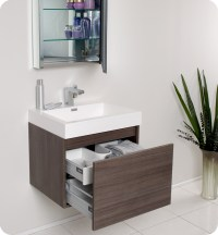 Fresca Nano Gray Oak Modern Bathroom Vanity