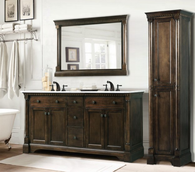 legion 60 inch antique single sink bathroom vanity antique coffee