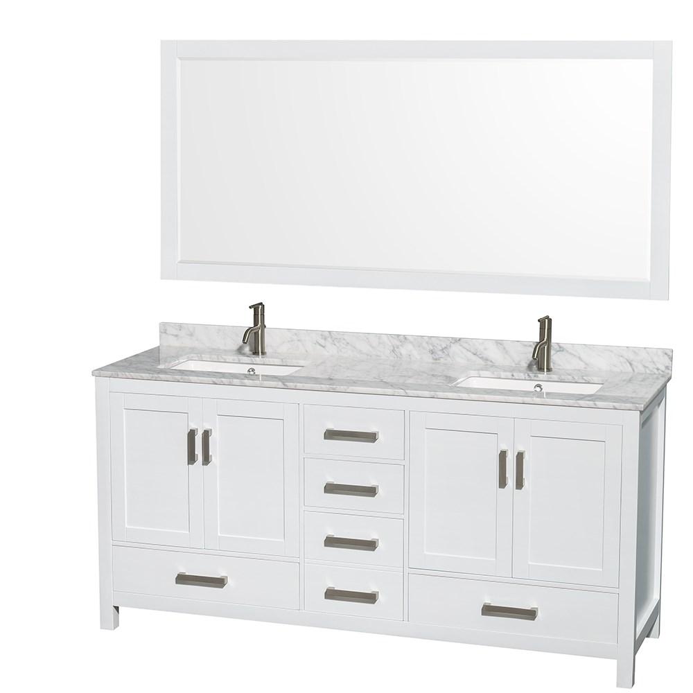 sheffield 72 double bathroom vanity in