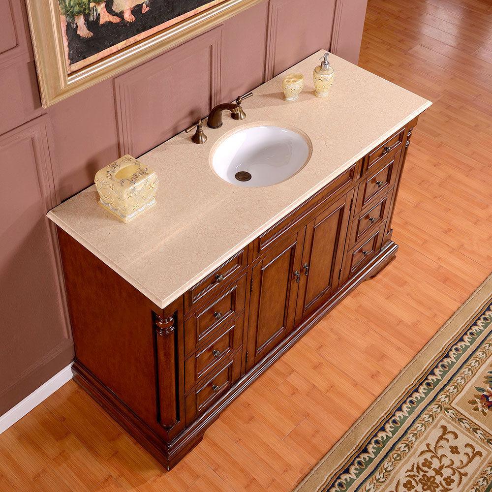 silkroad 58 inch antique single sink