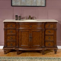 Silkroad Exclusive 60 inch Bathroom Single Sink Vanity