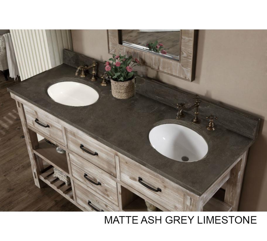 accos 60 inch rustic double sink
