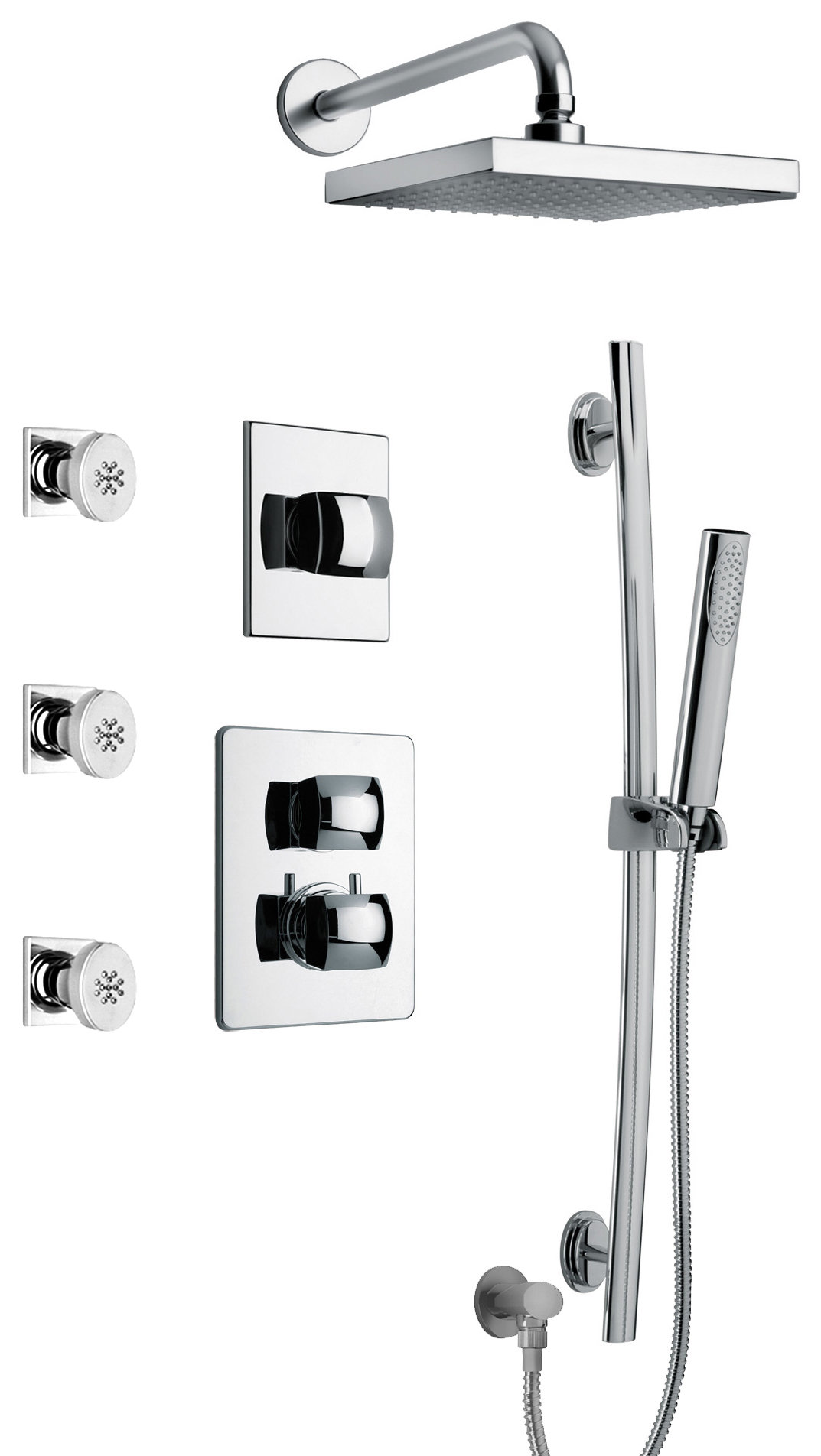 Thermostatic Shower With 3 4 Ceramic Disc Volume Control