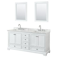 72 inch Double Sink Transitional White Finish Bathroom ...