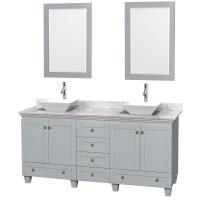 Accmilan 72 inch Double Sink Bathroom Vanity in Grey ...