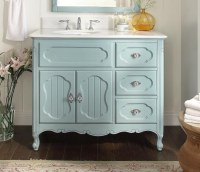 Adelina 42 inch Antique Cottage Bathroom Vanity Light Blue ...