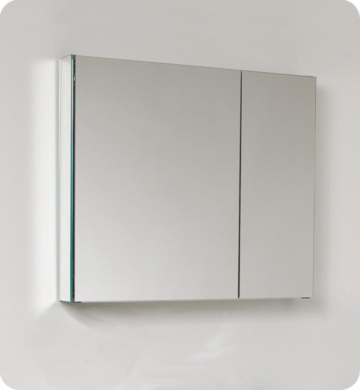 Fresca 30 inch Wide Bathroom Medicine Cabinet with Mirrors
