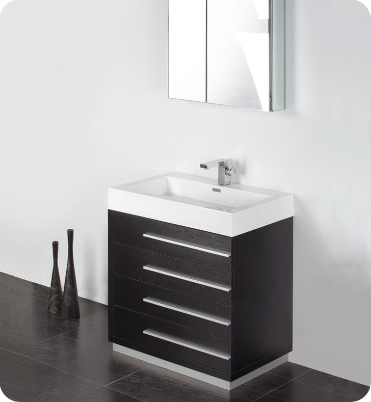 30 inch black modern bathroom vanity