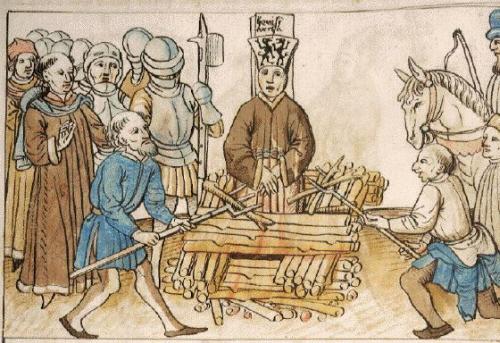 Spalenie Jana Husa w 1415 roku. Paweł Włodkowic należał do nielicznych protestujących.
