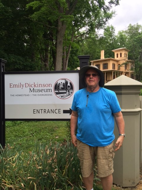 Murray at the Emily Dickinson Museum