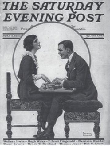 Zelda & Scott on Saturday Evening Post Cover