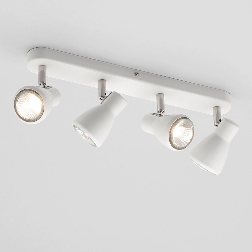 fluorescent light covers for kitchen best japanese knives kollig 4 ceiling spotlight bar - white from litecraft