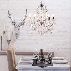 Kitchen Fluorescent Light Covers Pub Table Crystal Chandelier Madonna 5 Dual Mount Chrome From ...