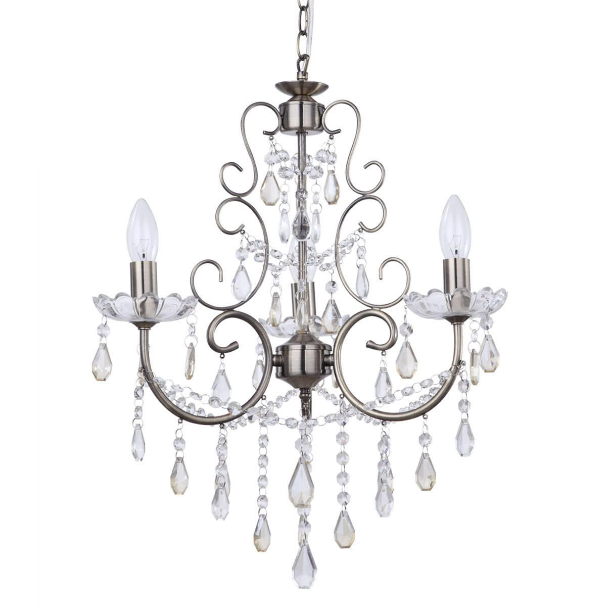 Curved Crystal Chandelier