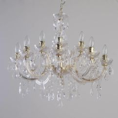 Kitchen Fluorescent Light Covers Grohe Faucets Repair Marie Therese 12 Dual Mount Chandelier - Gold From ...