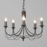 Black Chandelier Somerset Candle - 5 Light from Litecraft
