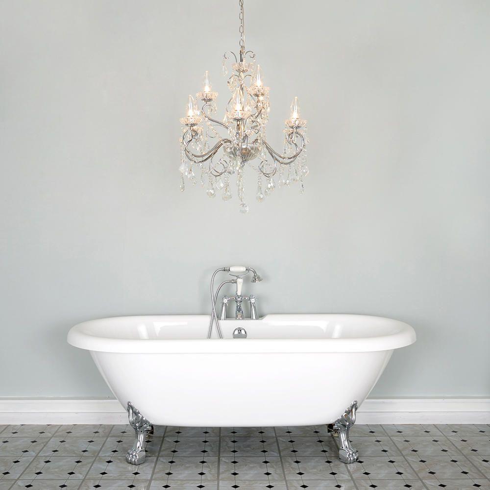 Vara 9 Light Bathroom Chandelier  Chrome  Litecraft