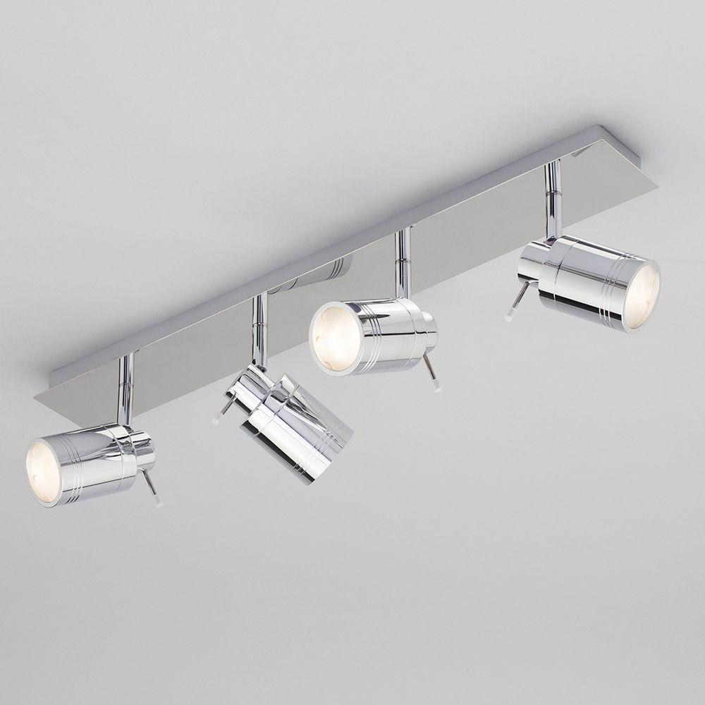 fluorescent light covers for kitchen decorative canisters ceiling spotlight bar - bathroom hugo 4 chrome ...