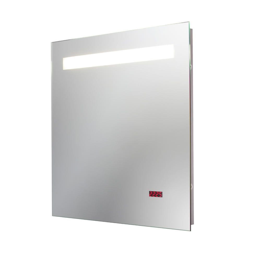 Meilos Fluorescent Bathroom Mirror Light with LED Clock