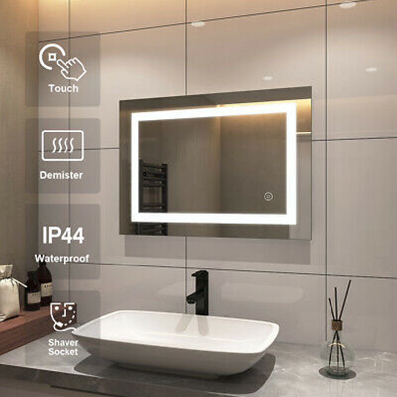 LED Illuminated Mirrors With Shaving Sockets For Bathroom