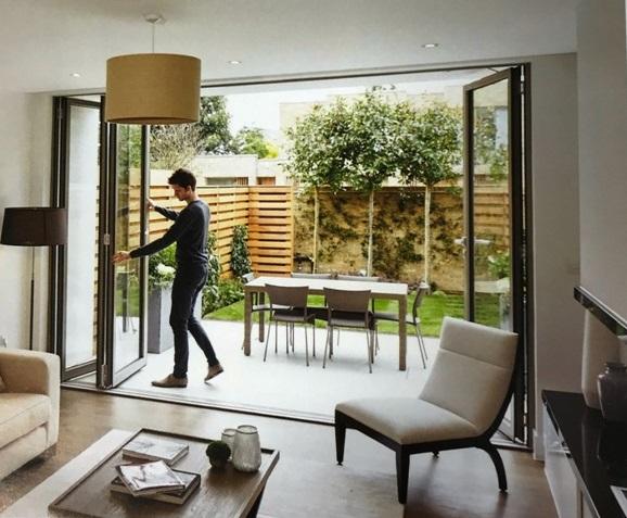 large sliding glass doors renovation
