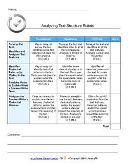 Analyzing Text Structure
