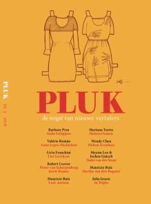 Omslag Pluk, de oogst van nieuwe vertalers - Onder redactie van Koen Boelens, Anne Folkertsma, Anne Lopes Michielsen e.a.