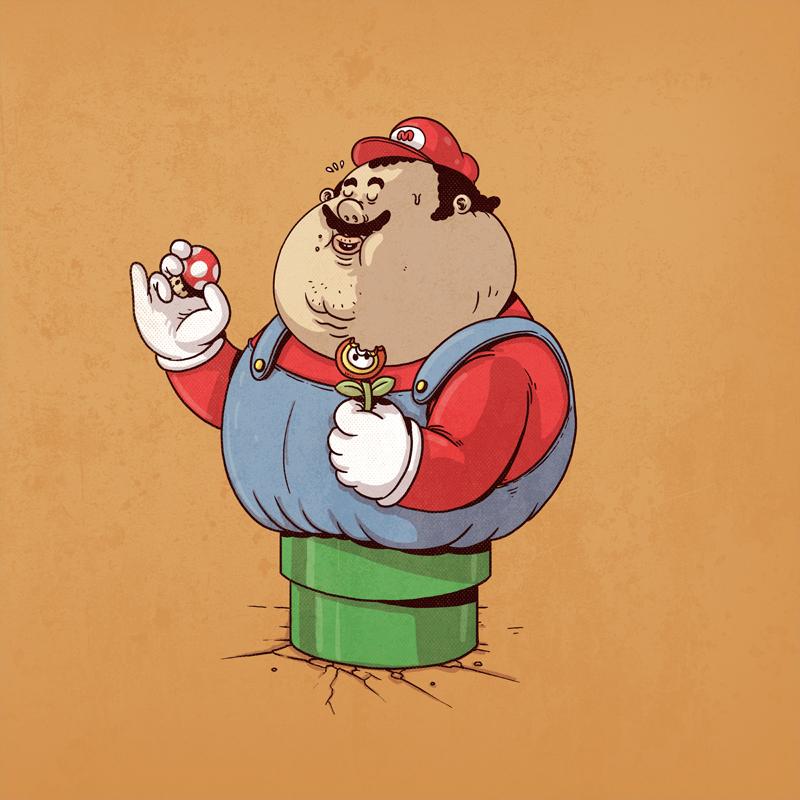 mario bross gordo