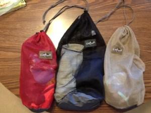 Mesh drawstring bags rock.
