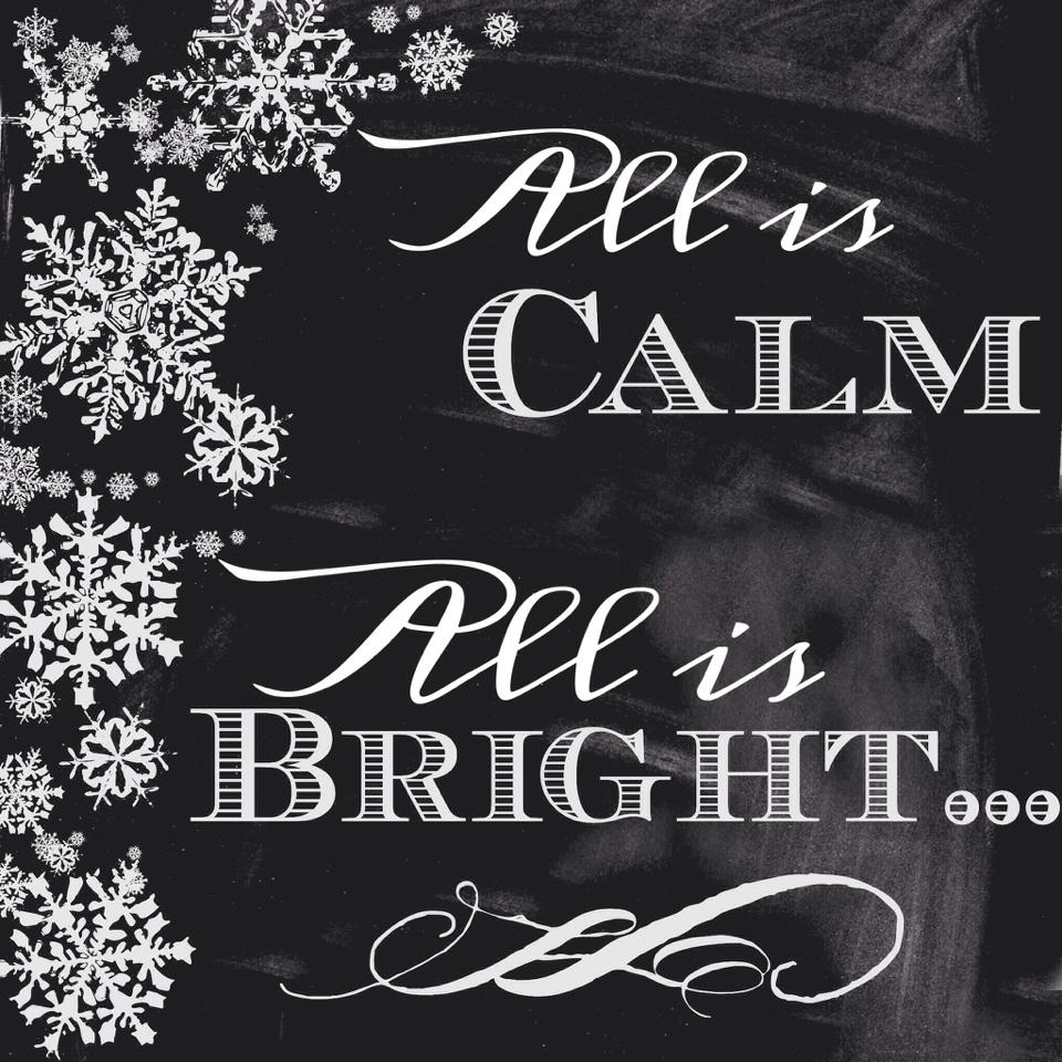 free holiday prints all is calm all is bright