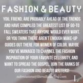 Fashion & Beauty Submit
