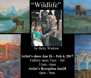 """Wildlife"" by Betty Watkins - Artist Show & Reception"