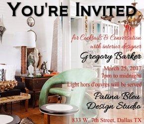 Cocktails & Conversation with Artist and Interior Designer Gregory Barker