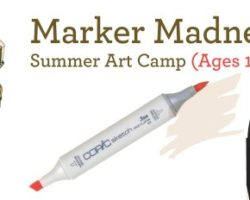 Markers Madness 2 – Summer 2017 Art Camp (10-17yrs)
