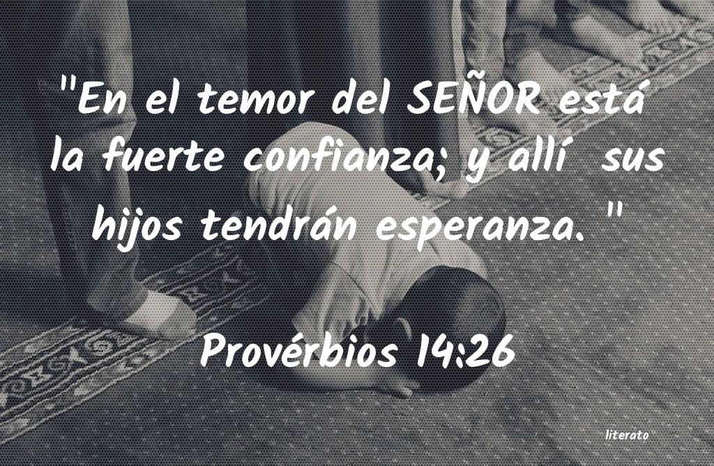 pics Proverbios 14 26 literato es