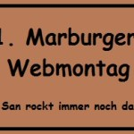 1. Marburger Webmontag