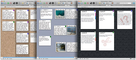 Scrivener in Corkboard Mode