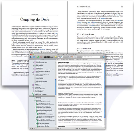 Scrivener in Document Mode