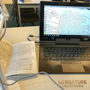 Document camera laptop and book
