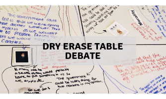Dry erase table debate