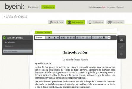 Captura de pantalla de Byeink