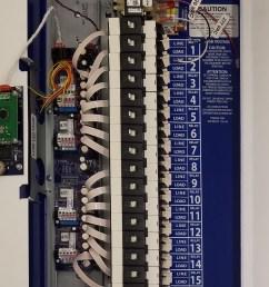 gr1416 ltd lc d 16 relay dimming blue box lighting control panel literite controls [ 1404 x 2328 Pixel ]
