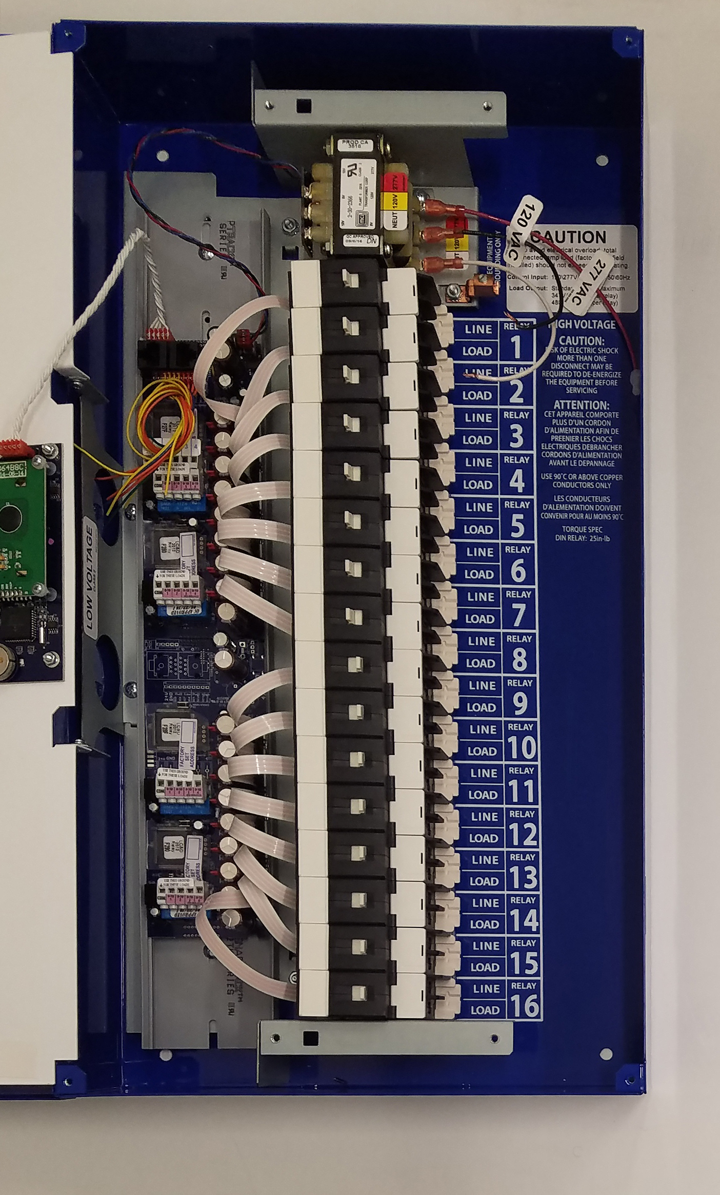 hight resolution of gr1416 ltd lc d 16 relay dimming blue box lighting control panel literite controls
