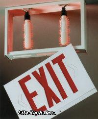Red LED Exit Sign RetroKit 595 per bulb 1190 per