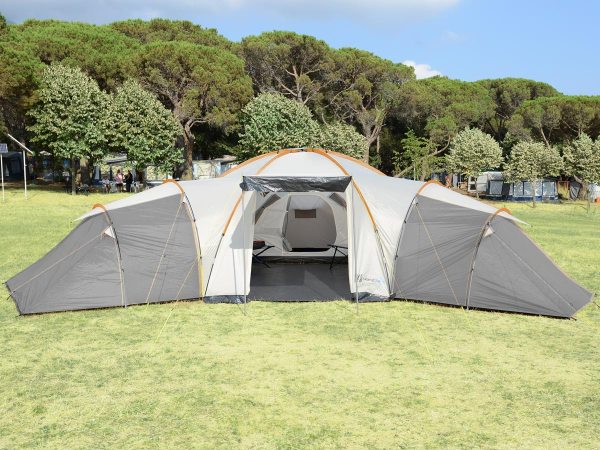 Skandika Turin 12 Person Man Family Dome Tent 3 Sleeping Pods Xl Camping 4260520872525