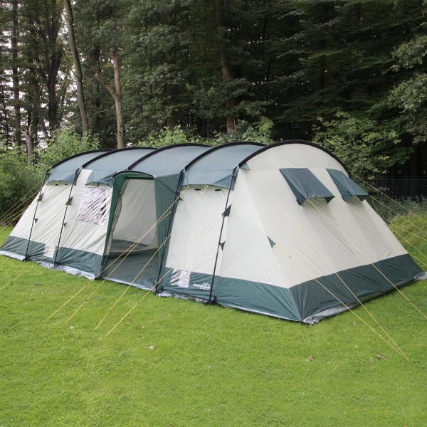 Skandika Hurricane Xxl-12 Person Man Camping Tent Large Family Group Green