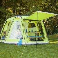 skandika Copenhagen 6 Person/Man Family Dome Tent Sewn-in ...