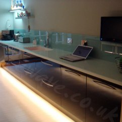 Led Tape Kitchen Cost Of Cabinets Installed In A Customer S Piano Black With Warm White Used To Light Floor Below Plinths