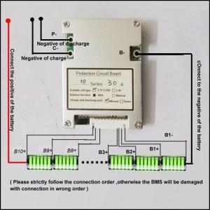 10S 36V 13S 48V 14S 588V Lithium Ion Battery PCB board