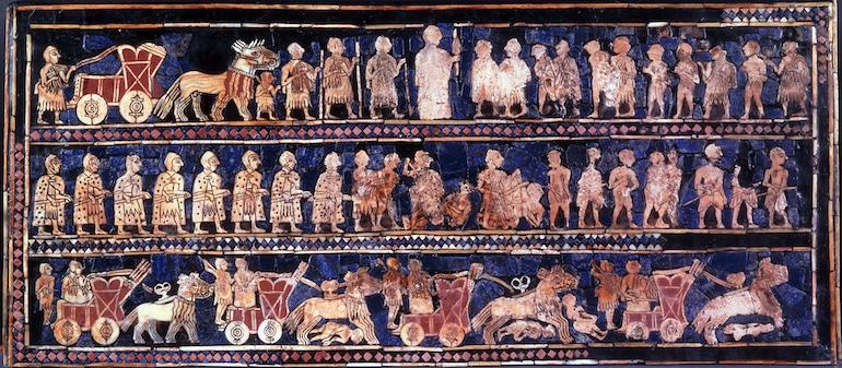 L'étendard d'Ur, un artefact sumérien en Lapis Lazuli